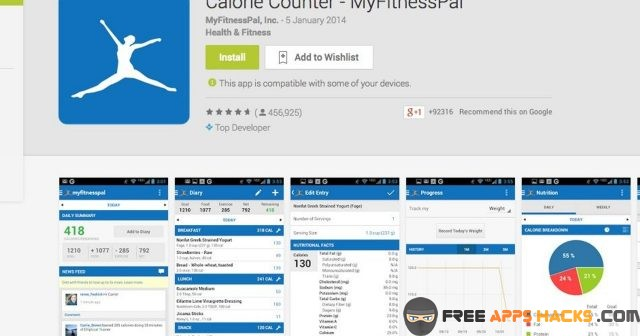Calorie Counter My Fitness Pal Modded APK Android App - Free