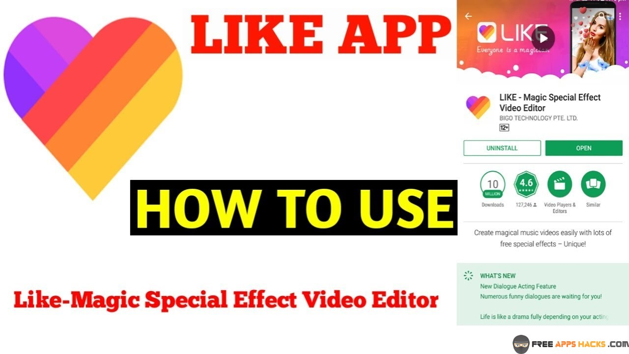 Like Magic Effects Video Editor Free Modded APK Android App - Free