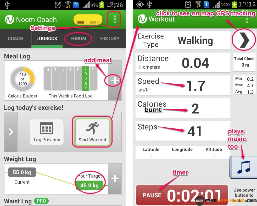weight loss plan app