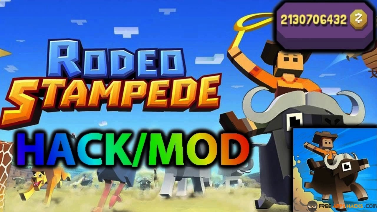 Rodeo Stampede Sky Zoo Safari Modded Apk Unlimited Money