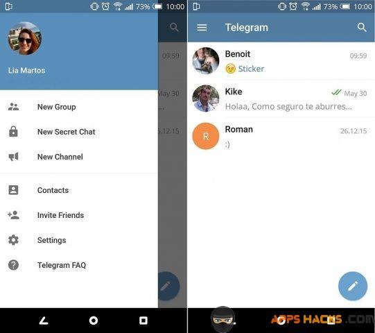 Telegram Free Modded APK Android App - Free App Hacks