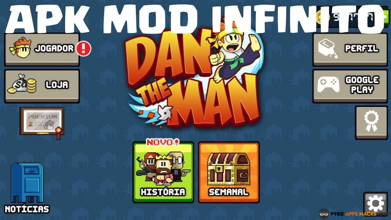 Dan The Man Unlimited Money Modded APK Android App - Free App Hacks